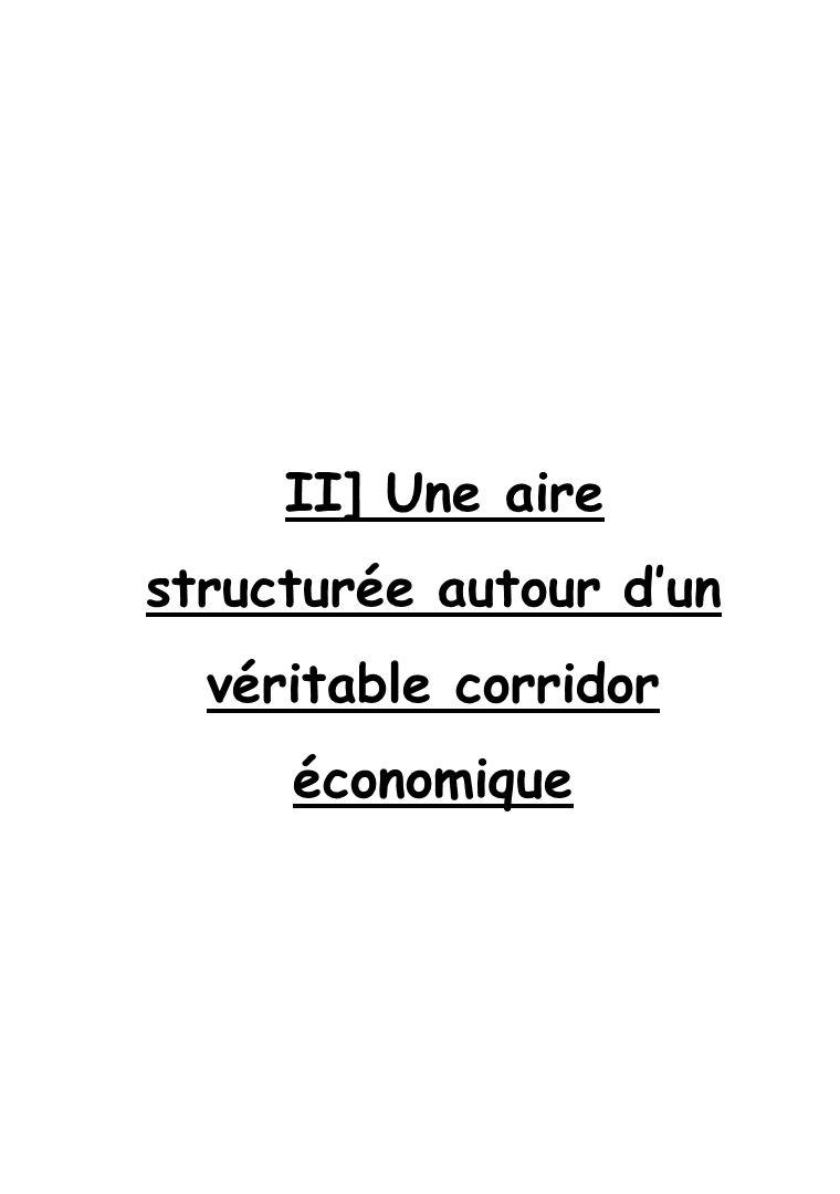 II] Une aire structurée autour d'un véritable corridor économique